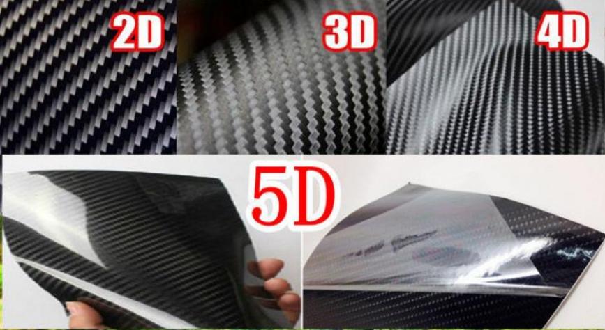 Виды карбоновой пленки для машины: 2D, 3D, 4D и 5D