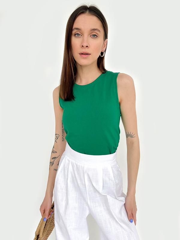 Нежный женский топ зеленого цвета (товар и фото магазина https://diadia.ua/)