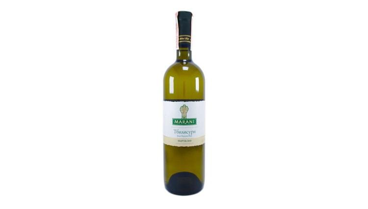 біле напівсухе грузинське вино