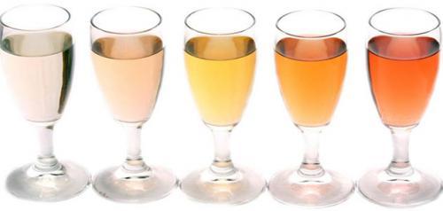 Біле пряний вино.  Смак и відтінкі білого вина