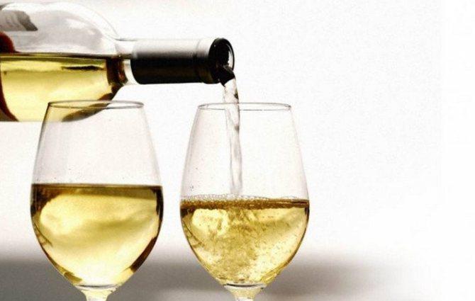 Біле сухе вино