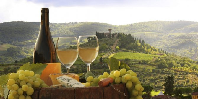 Білі вина Італії