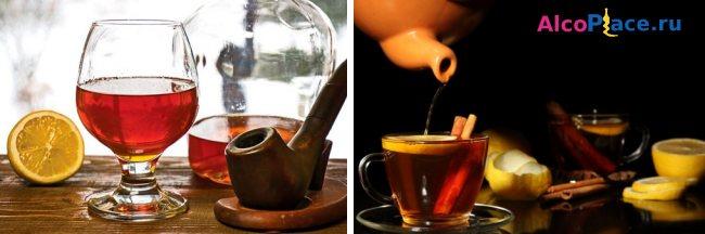 Чай з коньяком від застуди