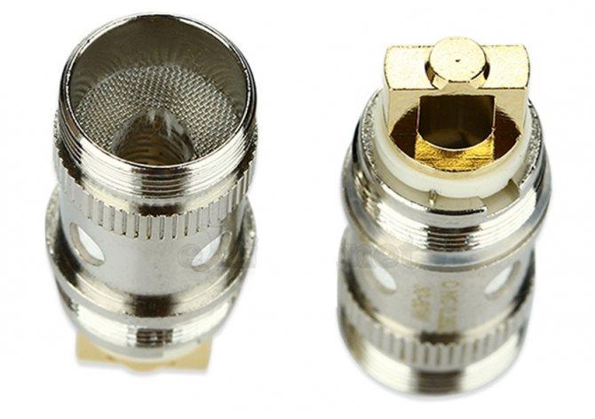Чим відрізняються віпарнікі для iJust S - сравненіе.EC NC Head (NotchCoil) 0.25 Ом