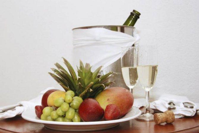 Чим закушувати шампанське напівсолодке з етикету