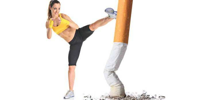 Дівчина і сигарета