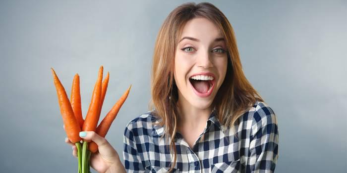 Дівчина з морквою