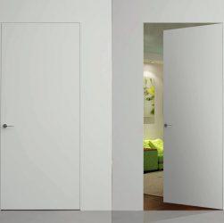 Белые двери скрытого монтажа