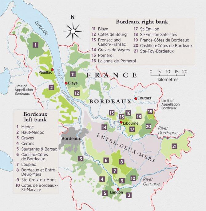 фото виноробної карти Бордо