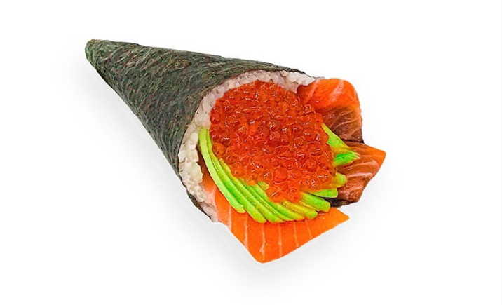 Вкуснейшие хенд роллы с лососем (от повара timeout.od.ua)