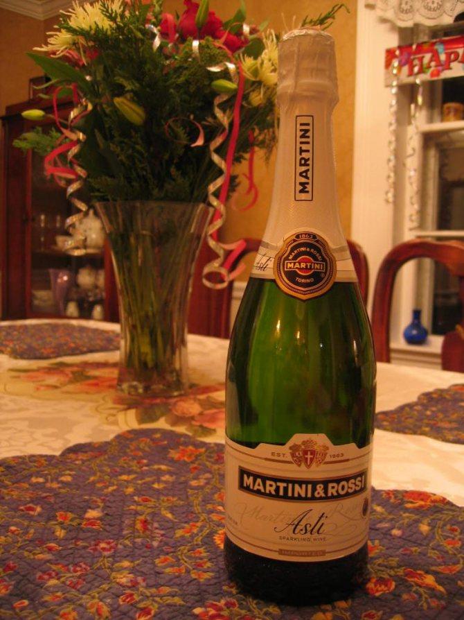 Ігрісте вино Martini Asti