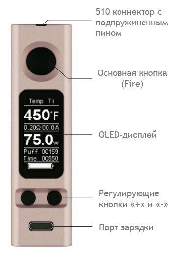 Інструкція для бокс-мода Joyetech eVic VTC Mini 75W.О продукті