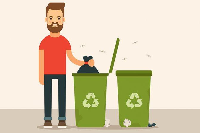як очистити бак дріпку випарник у відро для сміття