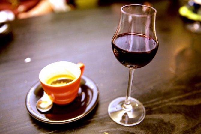 Кава і вино