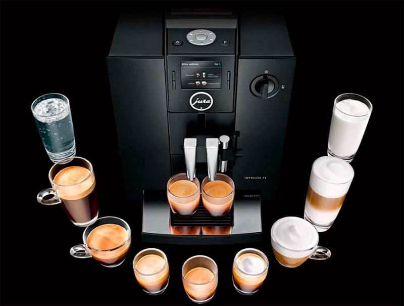 Ароматный кофе приготовленный с помощью кофемашины