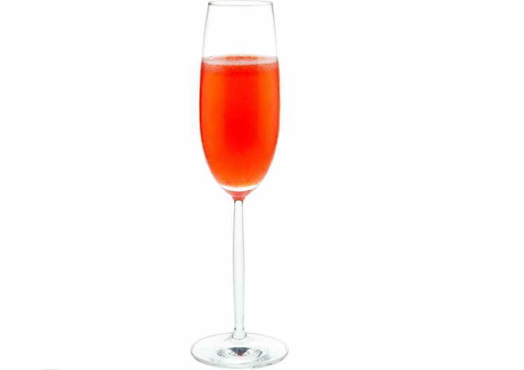 коктейль просекко и персик