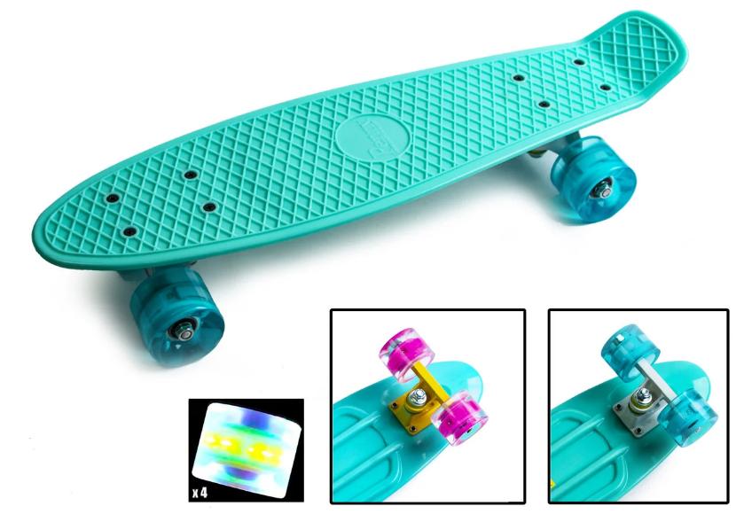 Скейтборд (пенни борд) с новыми колесами из полиуретана