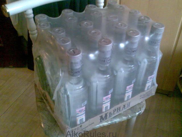 Кількість пляшок в ящику горілки, вина, шампанського