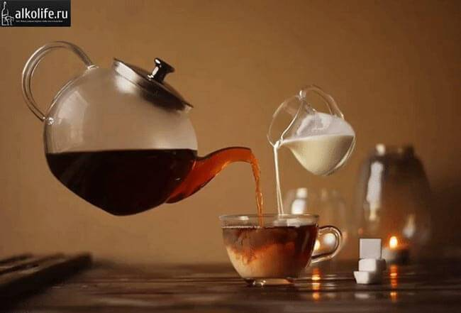 Коньячний чай з молоком