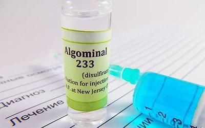 Лікарська форма Алгомінала - клініка угідь