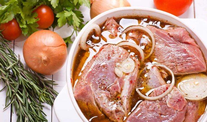 м'ясо в марінаді