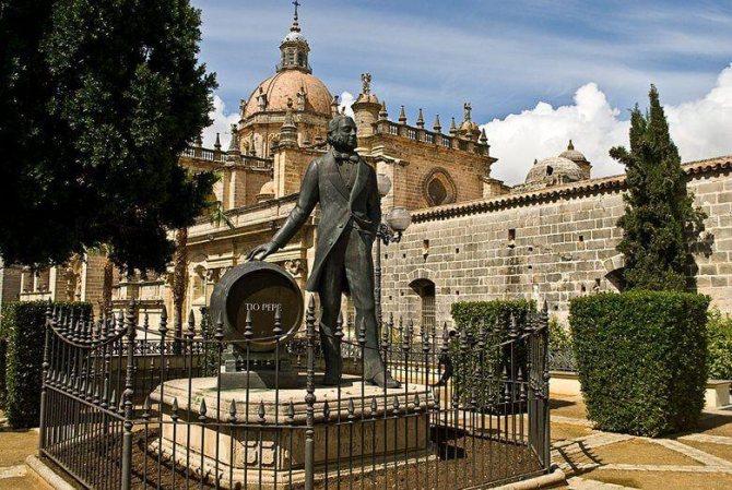 Пам'ятник виробнику хересу в Андалусії