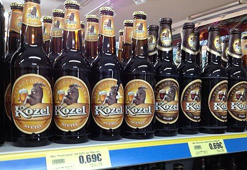 Пиво Kozel в Чехії