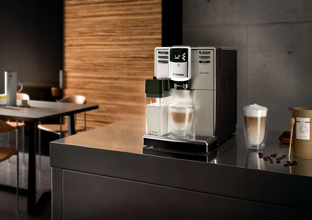 Процес приготування кави з капсул машиною для кави