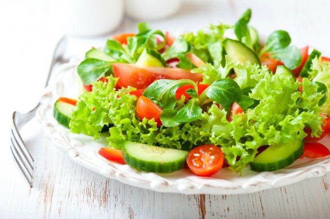салат з віннім оцтом