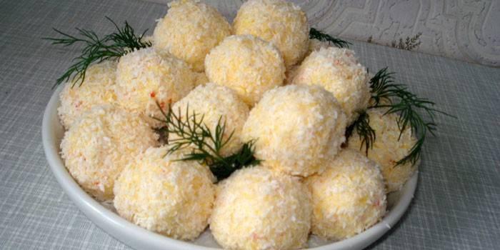 Кульки з сиру і часнику