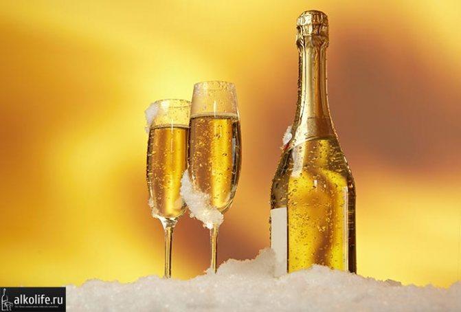 Скільки градусів в розливного шампанського