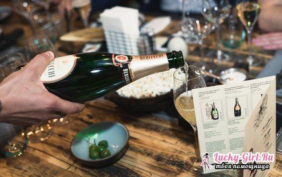 Скільки в шампанському калорій в пляшці брют