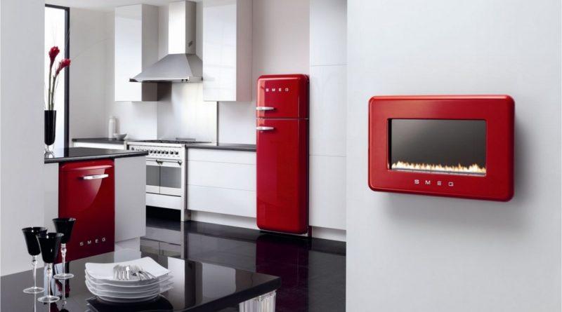 Бытовая техника SMEG в интерьере кухни