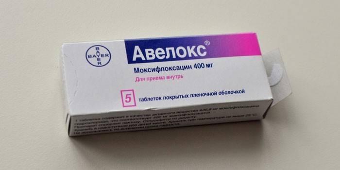 Таблетки Авелокс в упаковці