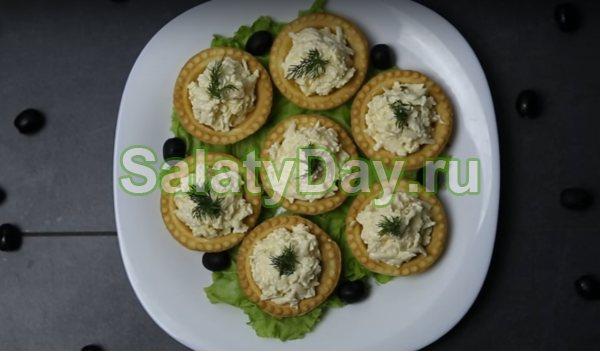 Тарталетки з сирним соусом