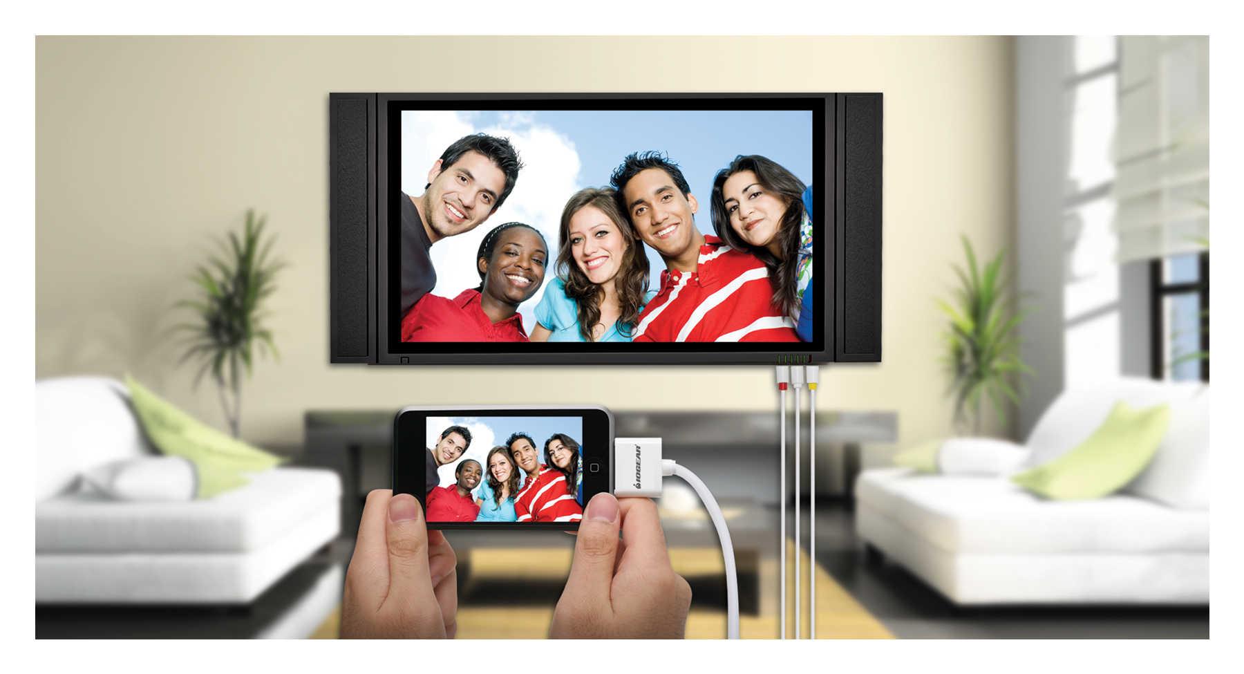 Телефон подключенный к телевизору с помощью кабеля HDMI