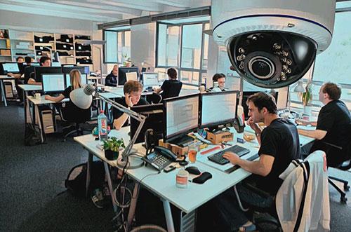 Видео наблюдение в офисе для контроля работы сотрудников