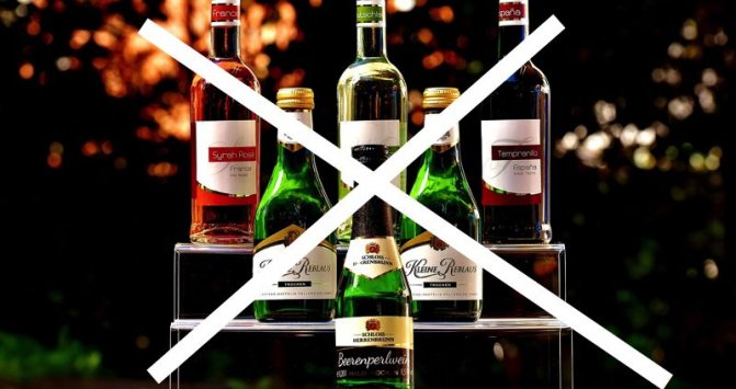 Заборона на алкоголь